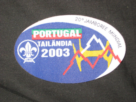 2003 World Jamboree Portugal Contingent Patch
