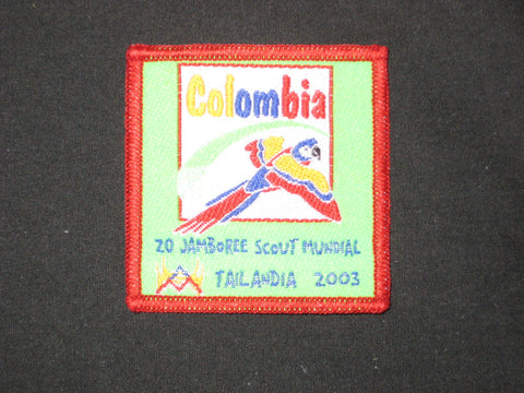 2003 World Jamboree Columbia Patch
