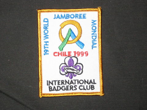 1999 World Jamboree International Badgers Club Patch