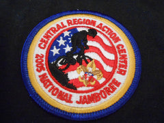 05 National Jamboree Central Region Action Center Pocket Patch