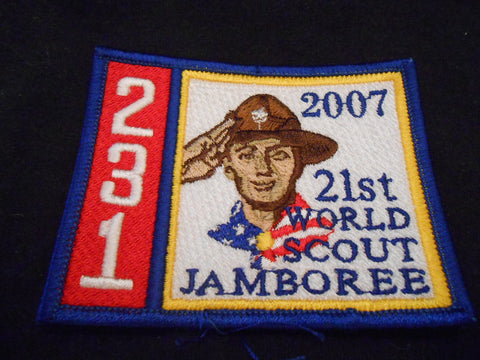 2007 World Jamboree Troop 231 Contigent Patch