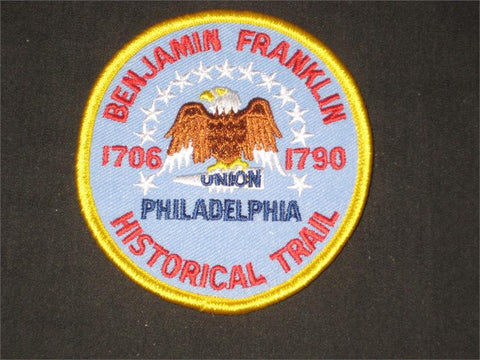 Benjamin Franklin Historical Trail Pocket Patch