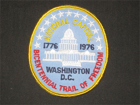 National Capital Bicentennial Trail of Freedom Pocket Patch