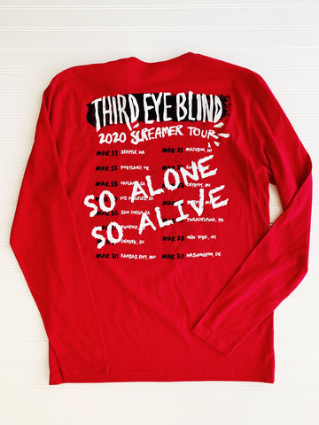 Screamer Tour Long Sleeve  Red