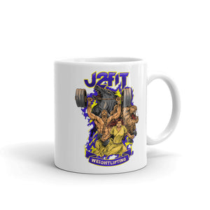 J2FIT Weightlifting Graphic Mug