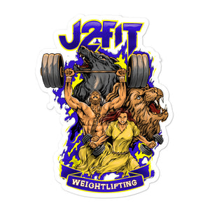 J2FIT Weightlifting Graphic Bubble-Free Stickers