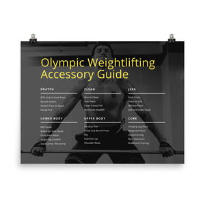Olympic Weightlifting Accessory Exercise Guide Poster (24x18in)