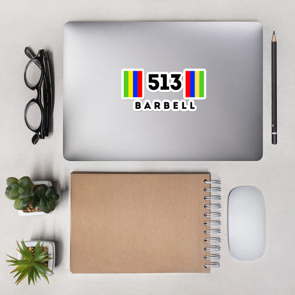 513 Barbell Sticker