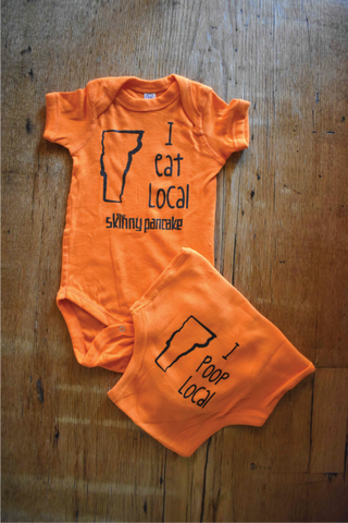 Eat Local/Poop Local Onesie