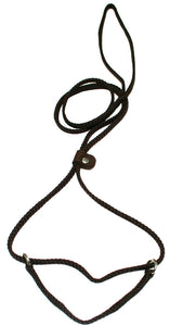 "1/4"" Flat Braid Martingale Style Lead Brown"