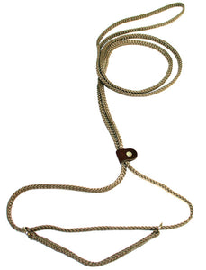 "1/4"" Flat Braid Martingale Style Lead Tan"