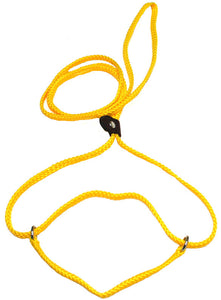 "1/4"" Flat Braid Martingale Style Lead Yellow"