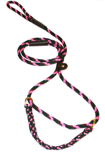 "3/8"" Solid Braid Martingale Style Lead Pink Camouflage"