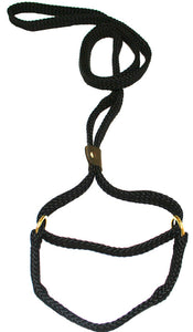 "5/8"" Flat Braid Martingale Style Lead  Black"