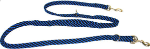"5/8"" Multi Purpose Leash  Black/Blue Spiral"