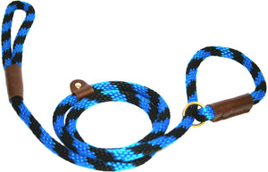 "1/2"" Solid Braid Slip Lead  Black/Blue Spiral"