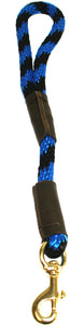"1/2"" Solid Braid Traffic Lead  Black/Blue Spiral"