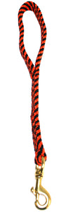 "5/8"" Flat Braid Traffic Lead  Black/Orange Spiral"