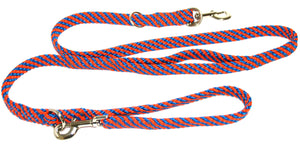 "5/8"" Multi Purpose Leash  Blue/Orange Spiral"