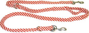 "5/8"" Multi Purpose Leash  Burnt Orange/White Spiral"
