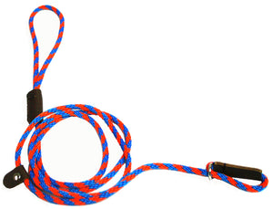 1/4 Solid Braid (Round) Slip Lead Blue/Orange Spiral