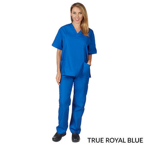 True Royal Blue Unisex Solid V-Neck Scrub Set  Have it  Personalized