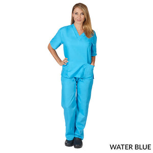 Teal  Unisex Solid V-Neck Scrub Set  Have it  Personalized