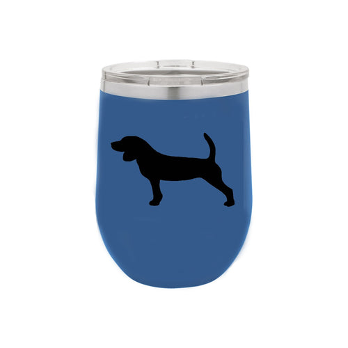 Beagle 12 oz Vacuum Insulated Stemless Wine Glass