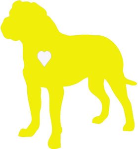 Heart Bull Mastiff Dog Decal