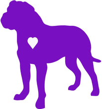 Load image into Gallery viewer, Heart Bull Mastiff Dog Decal