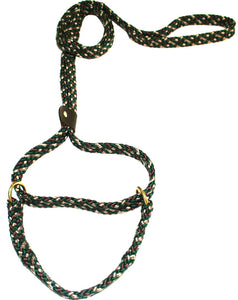 "5/8"" Flat Braid Martingale Style Lead Camouflage"