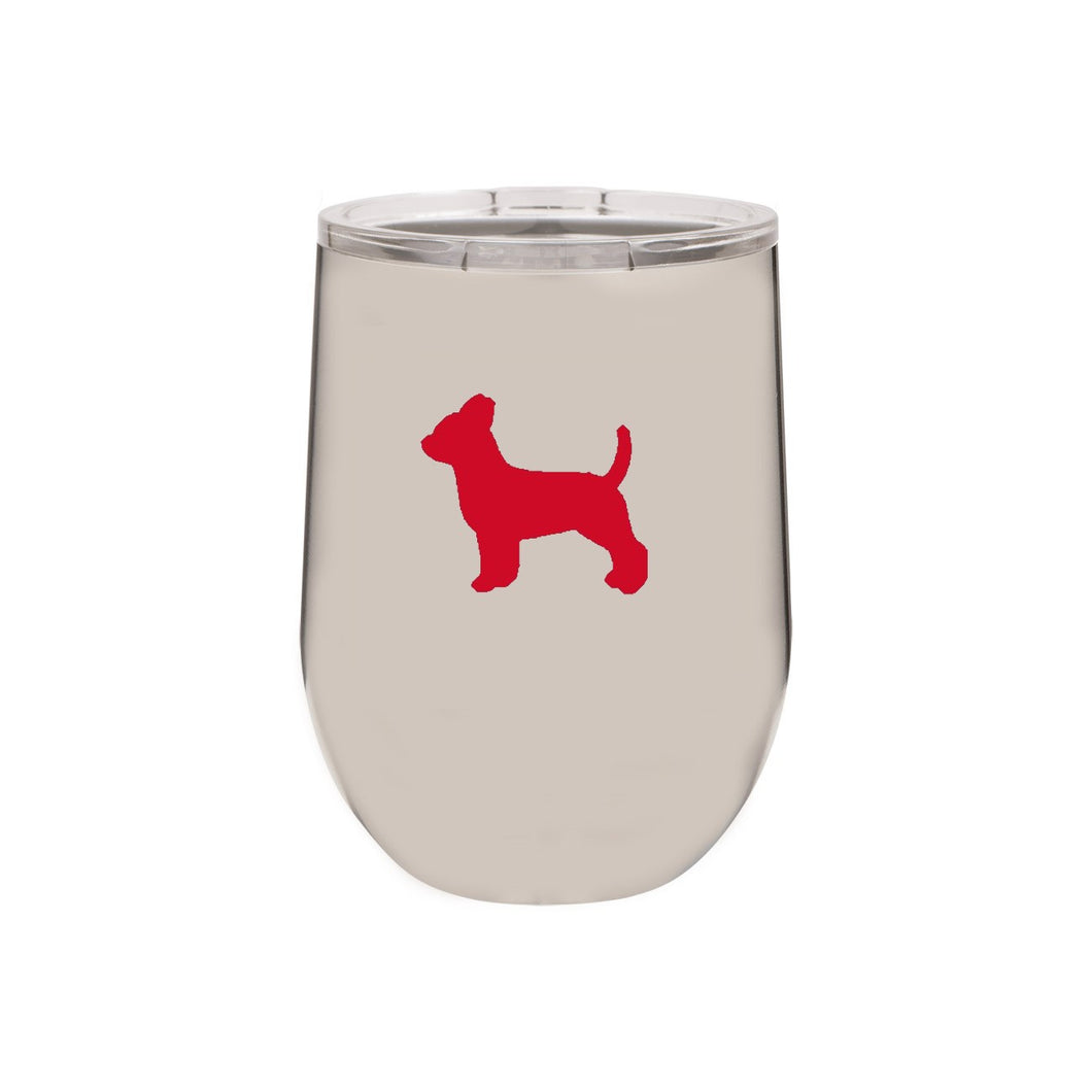 Chihuahua 12 oz Vacuum Insulated Stemless Wine Glass