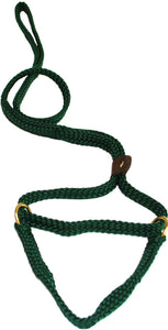 "5/8"" Flat Braid Martingale Style Lead Hunter Green"