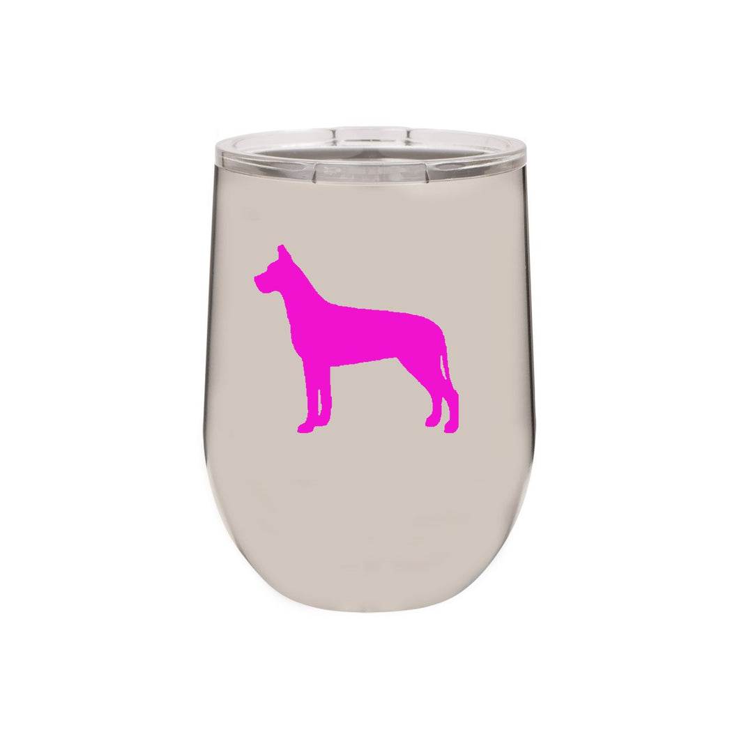 Great Dane 12 oz Vacuum Insulated Stemless Wine Glass