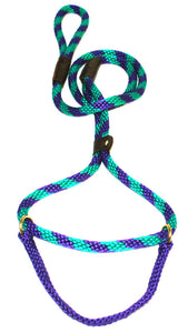 "1/2"" Solid Braid Martingale Style Lead Grape Twist"