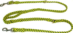 "5/8"" Multi Purpose Leash Green/Yellow Spiral"