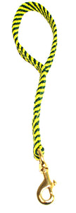 "5/8"" Flat Braid Traffic Lead Green/Yellow Spiral"