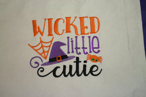 Halloween Embroidered Dog T-Shirt Wicked Little Cutie