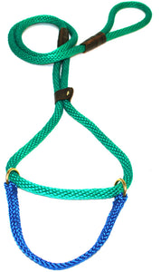 "1/2"" Solid Braid Martingale Style Lead Kelly Green"