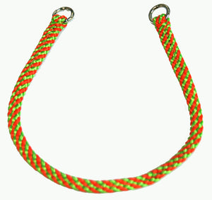 "1/4"" Professional Show Collar  Lime Green/Orange"