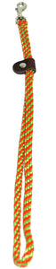 "1/4"" Flat Braid Grooming Loop Lime Green/Orange Spiral"