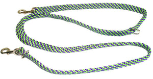 "5/8"" Multi Purpose Leash Lime Green/Purple Spiral"