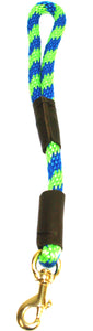 "1/2"" Solid Braid Traffic Lead Lime Green/Pacific Blue Spiral"