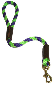 "1/2"" Solid Braid Traffic Lead Lime Green/Purple Spiral"