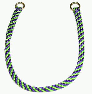 "1/4"" Professional Show Collar  Lime Green/Purple"