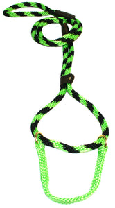 "1/2"" Solid Braid Martingale Style Lead Lime Twist"