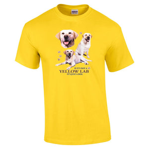 """Just A Dog""  Breed T Shirt Yellow Lab"