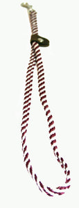 "1/4"" Flat Braid Grooming Loop Maroon/White Spiral"