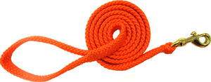 "5/8"" Flat Braid Snap Lead Orange"