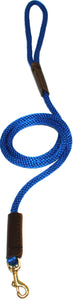 "3/8"" Solid Braid Snap Lead Pacific Blue"
